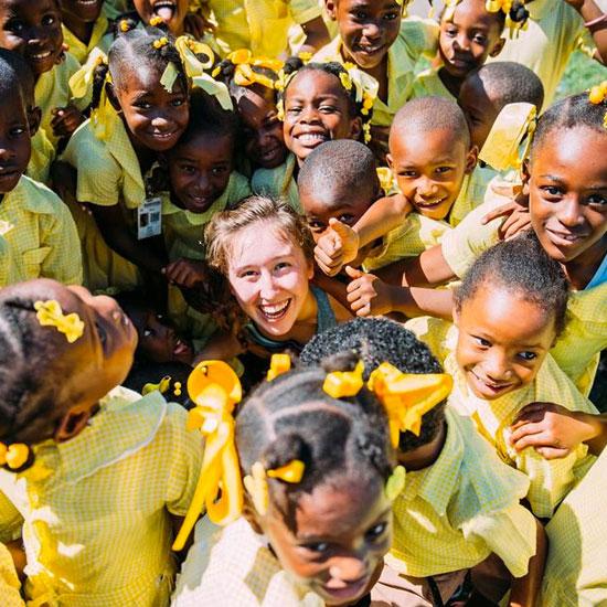Ben Lippen student ministering in Haiti