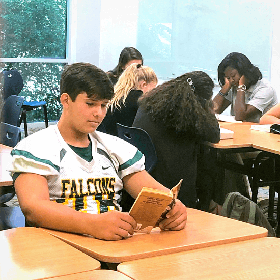 Students Reading during Reading Break