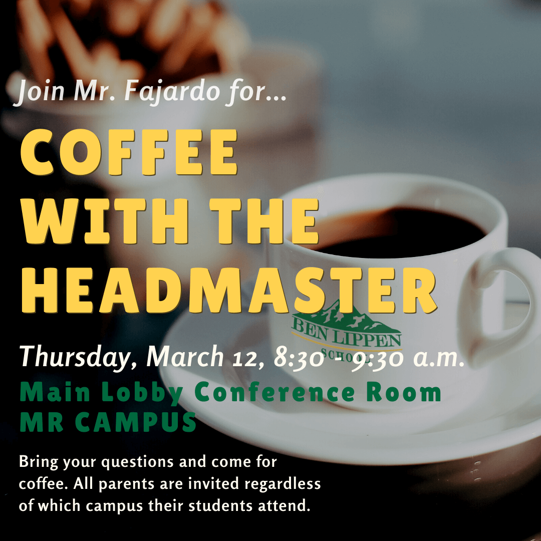 March Coffee with the Headmaster