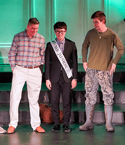 Bob won Mr. Junior in the Mr. Falcon 2020 pageant
